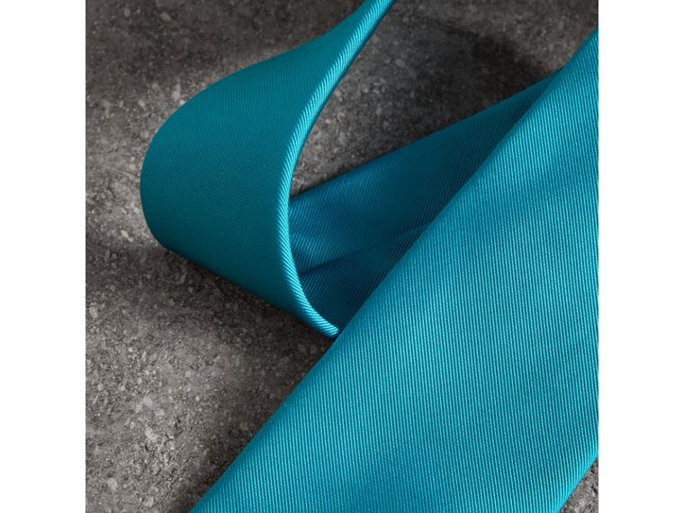 Modern Cut Silk Tie in Bright Aqua - Men | Burberry United Kingdom - cell image 1