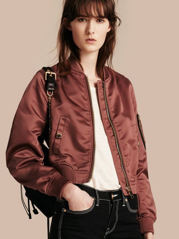 Cropped Technical Bomber Jacket
