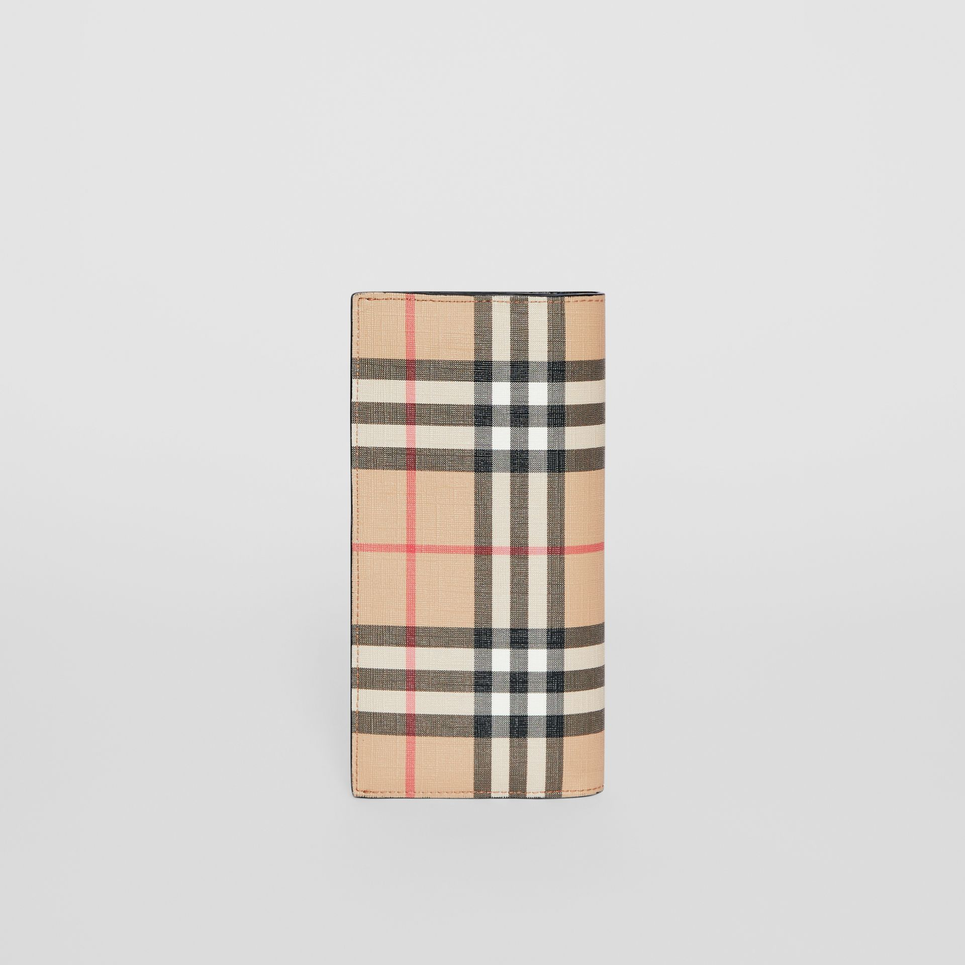 Vintage Check E-canvas Continental Wallet in Archive Beige - Men | Burberry United States - gallery image 4