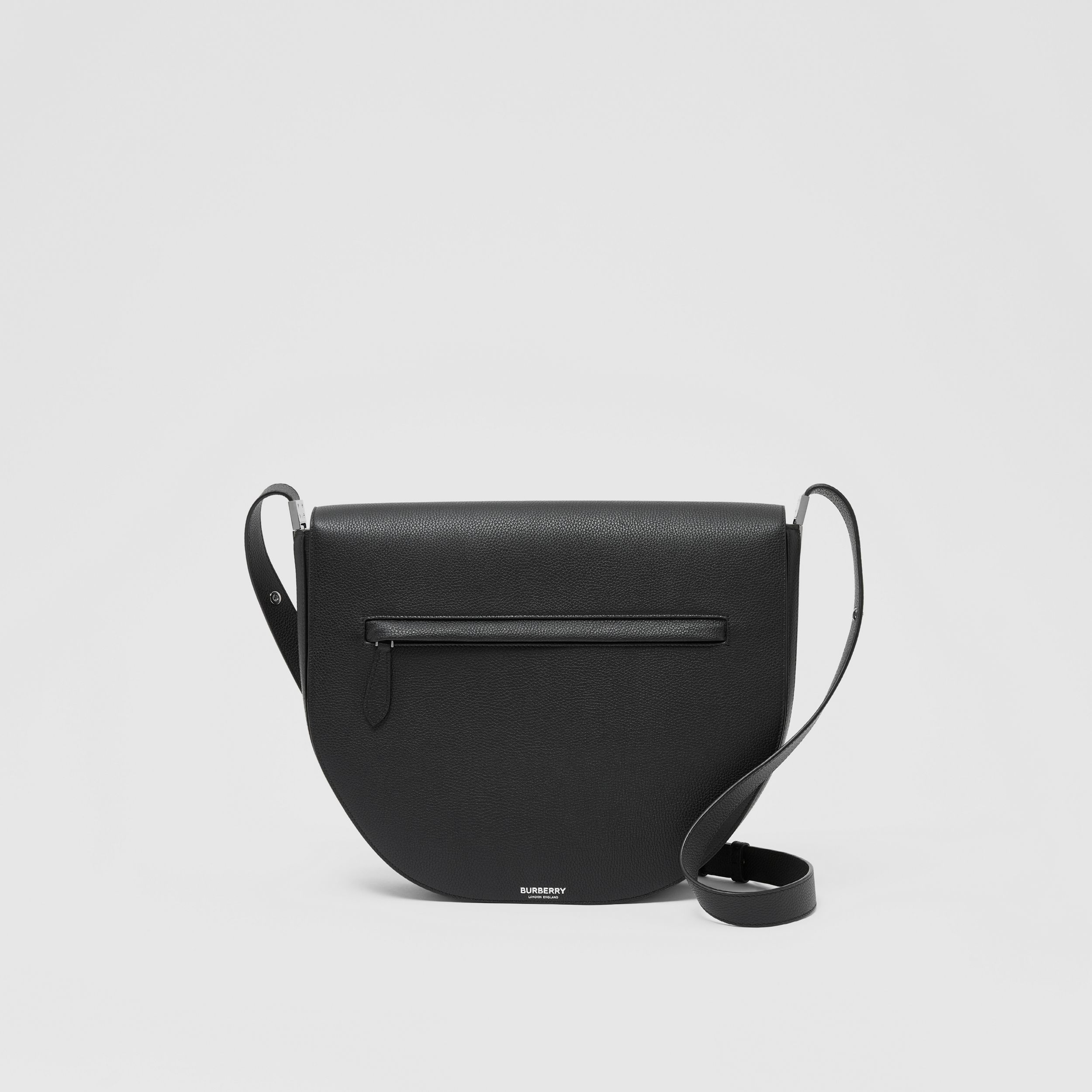 Leather Olympia Crossbody Bag in Black | Burberry Australia - 1