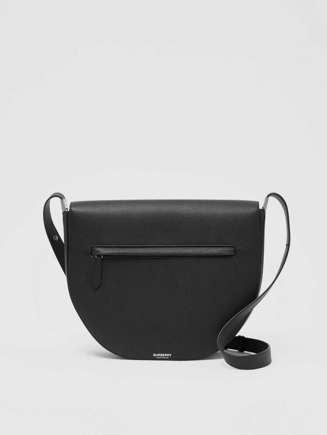 Leather Olympia Crossbody Bag in Black
