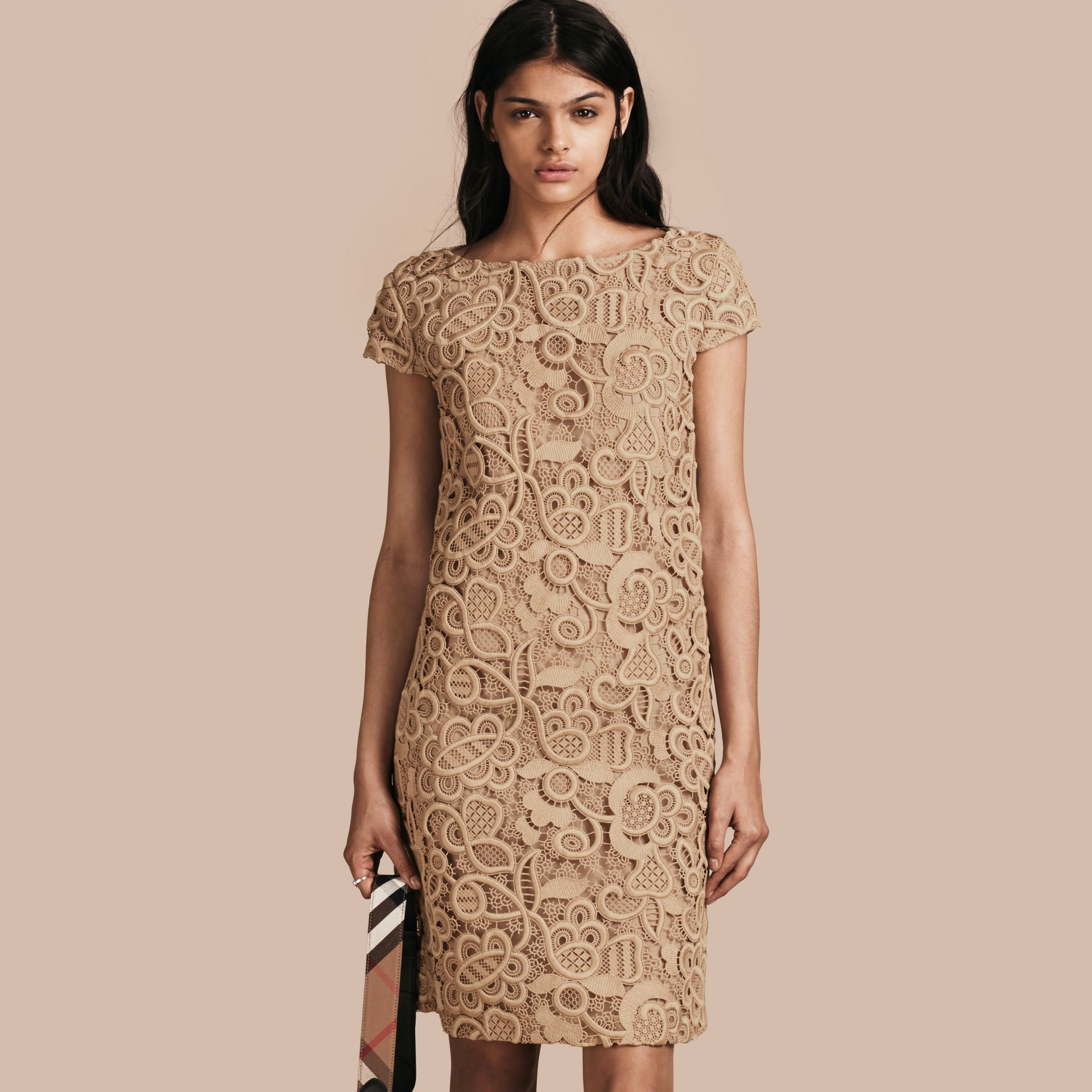 Nude Online Exclusive Swiss Lace Shift Dress - gallery image 1