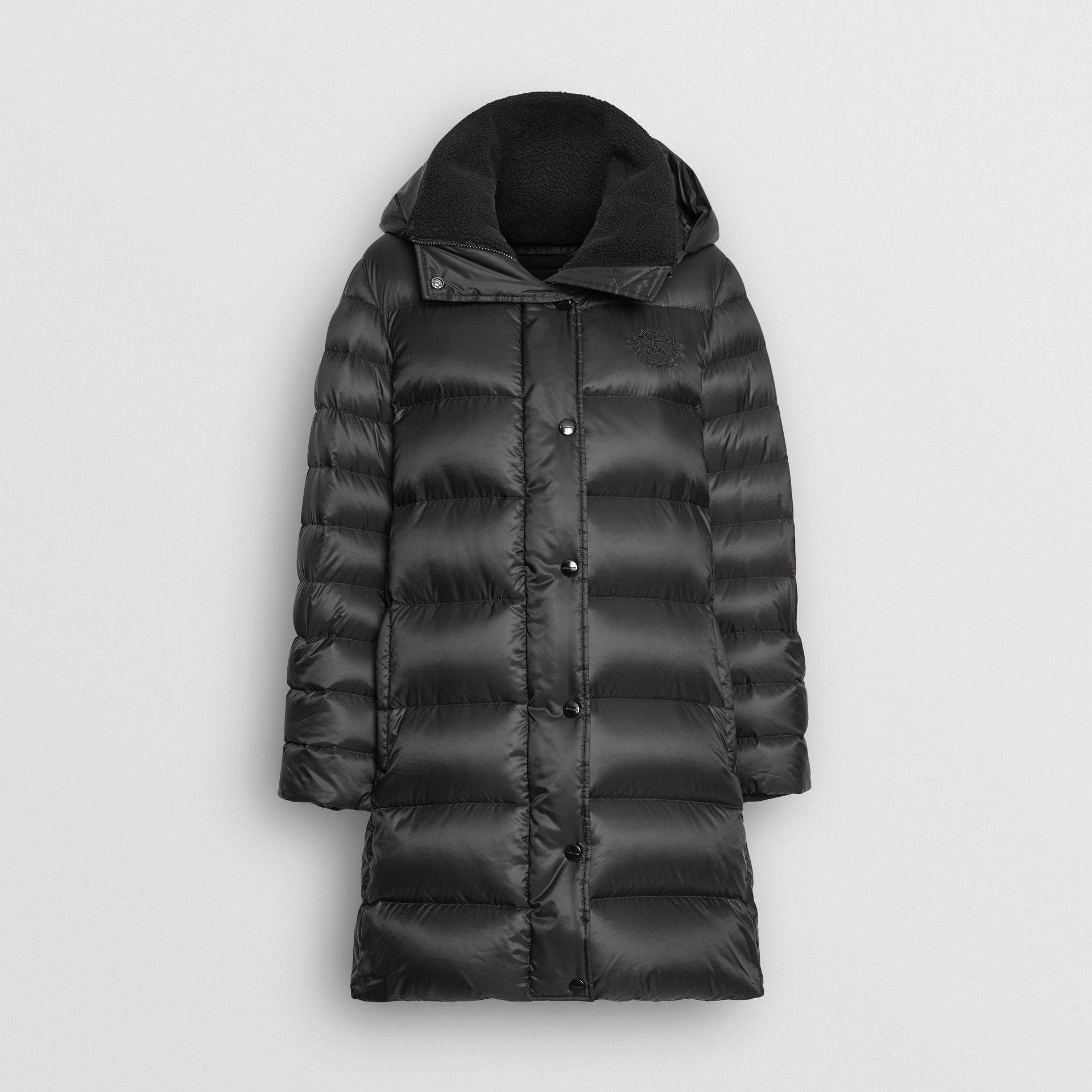 Down-filled Hooded Puffer Coat in Black - Women | Burberry United Kingdom - gallery image 3
