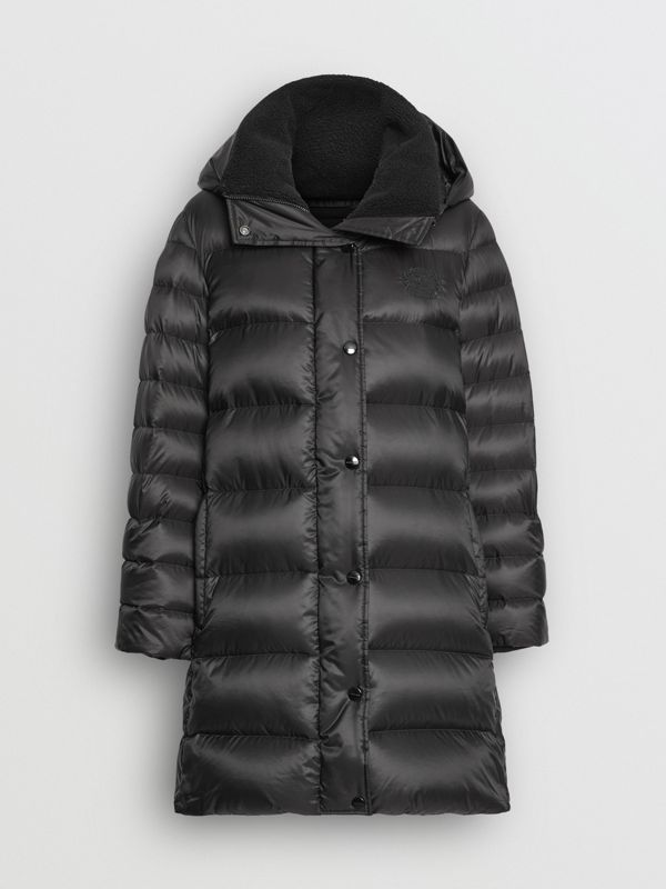 Down-filled Hooded Puffer Coat in Black - Women | Burberry Singapore - cell image 3