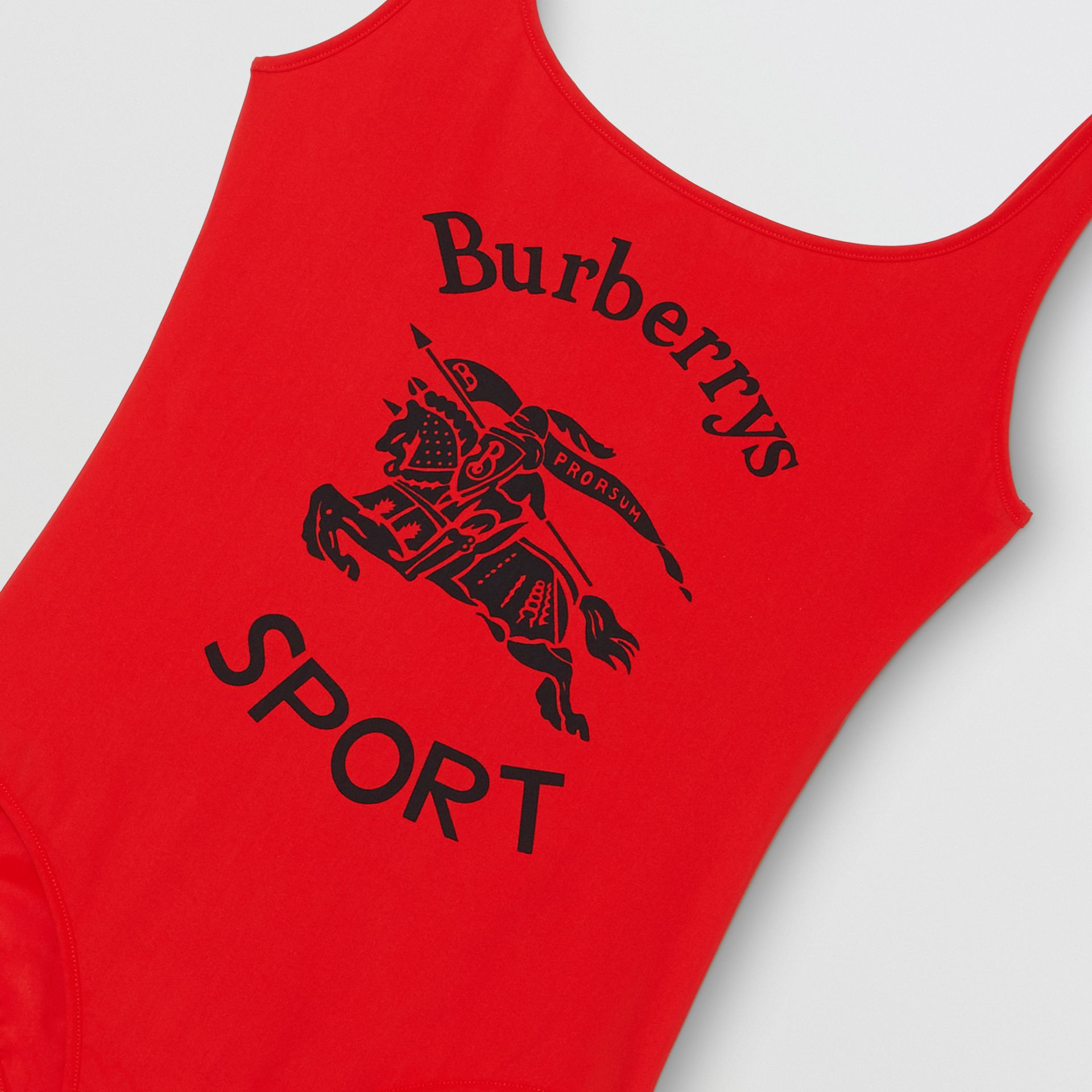 Archive Logo Print Swimsuit in Black - Women | Burberry - gallery image 1