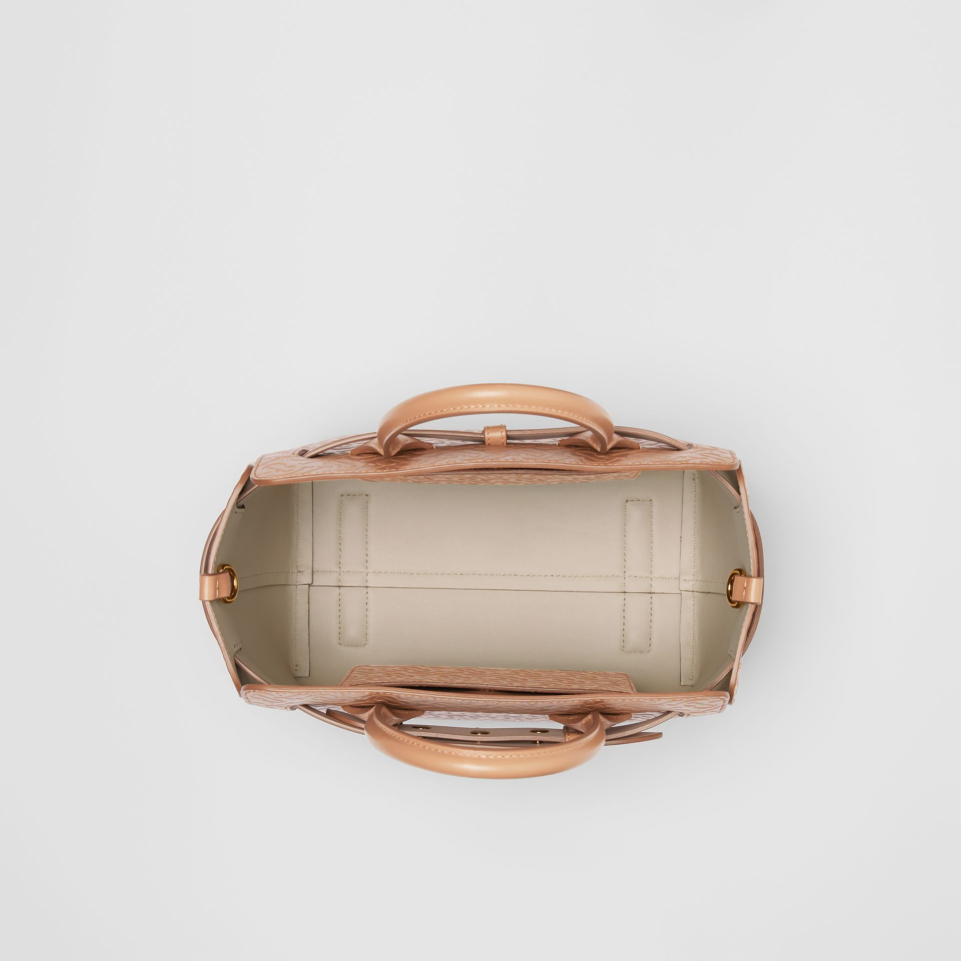 The Small Monogram Leather Triple Stud Belt Bag in Light Camel - Women | Burberry United Kingdom - gallery image 3