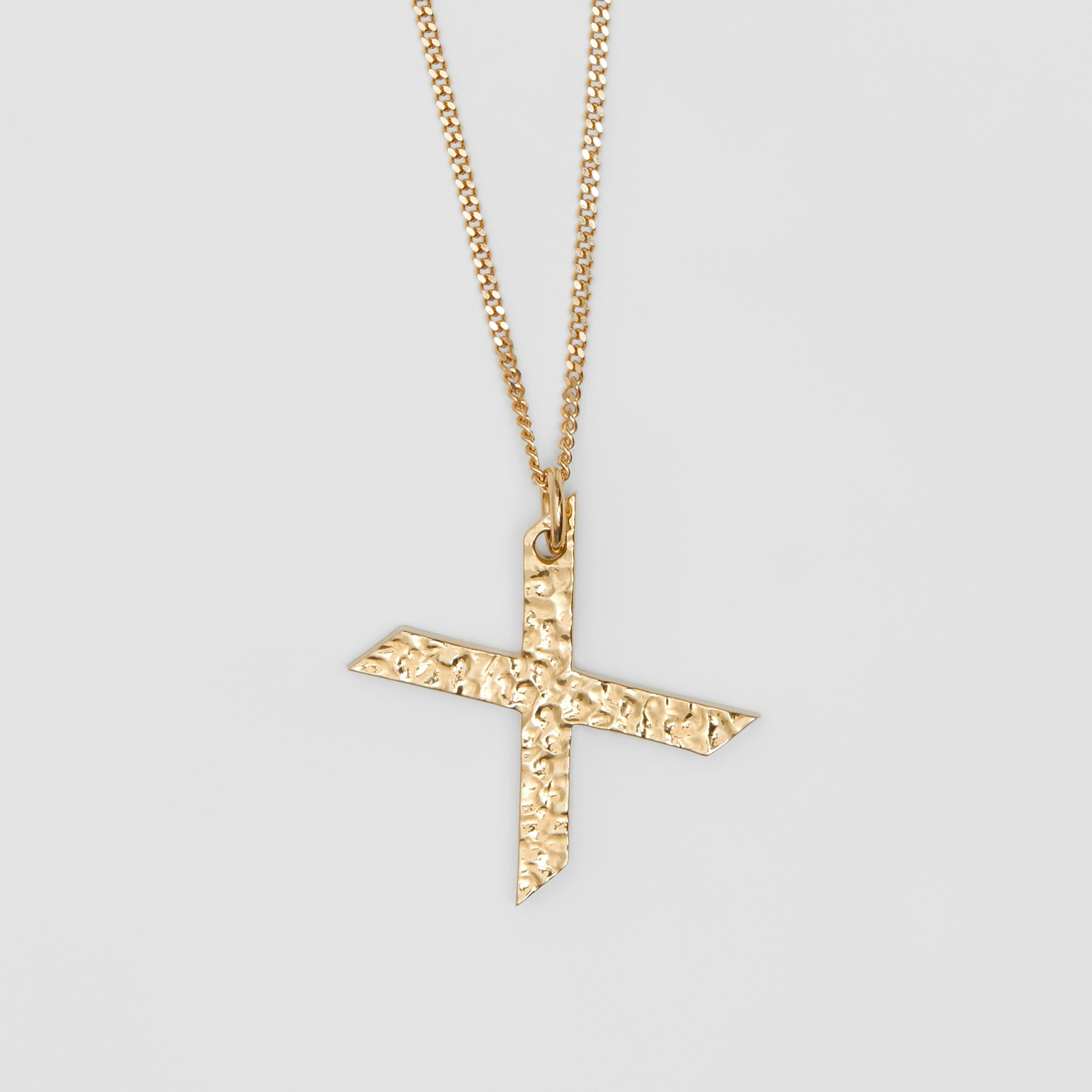 'X' Alphabet Charm Gold-plated Necklace in Light - Women | Burberry - 3