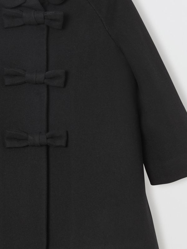 Embellished Melton Wool Swing Coat in Black | Burberry United Kingdom - cell image 3