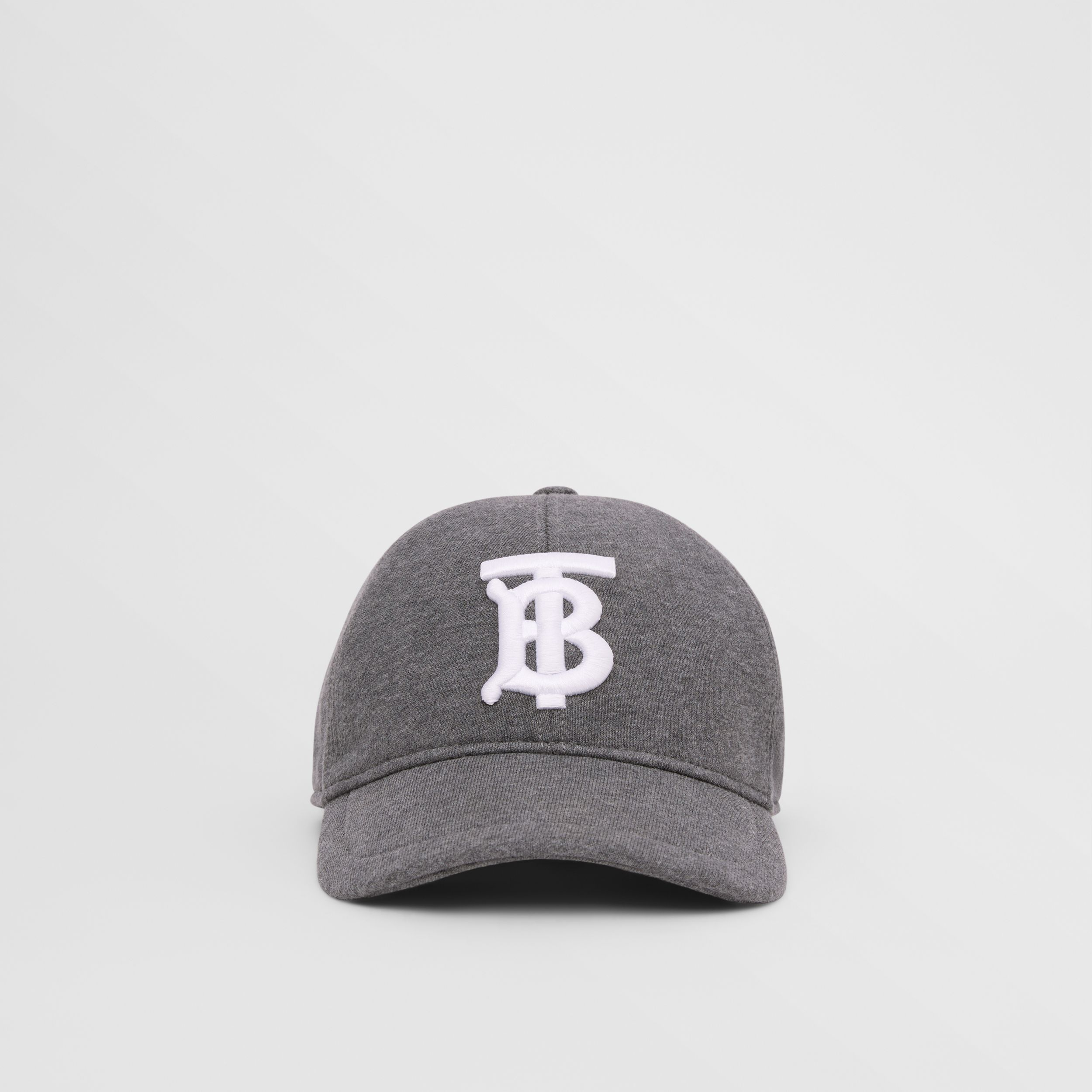 Monogram Motif Jersey Baseball Cap in Dark Charcoal | Burberry - 1