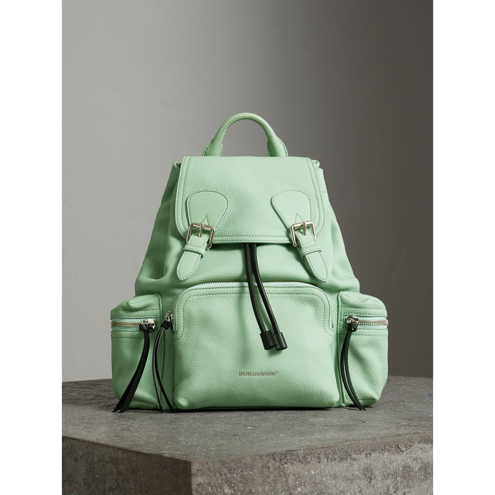 The Medium Rucksack in Deerskin with Resin Chain in Spearmint - Women | Burberry - gallery image 5