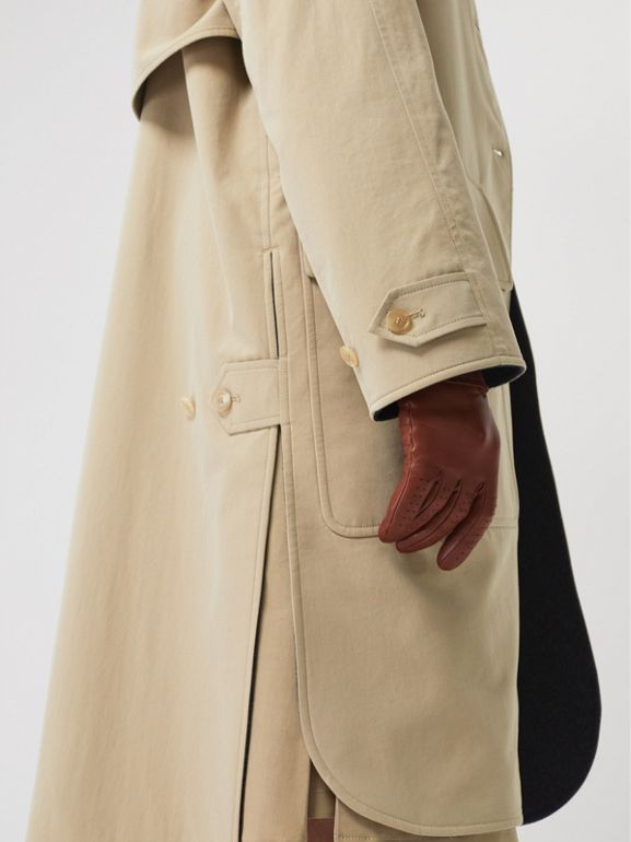 Wool-lined Tropical Gabardine Car Coat in Honey - Women | Burberry - cell image 1