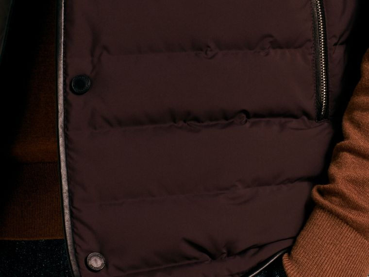 Elderberry Lambskin Trim Down-filled Gilet - cell image 4