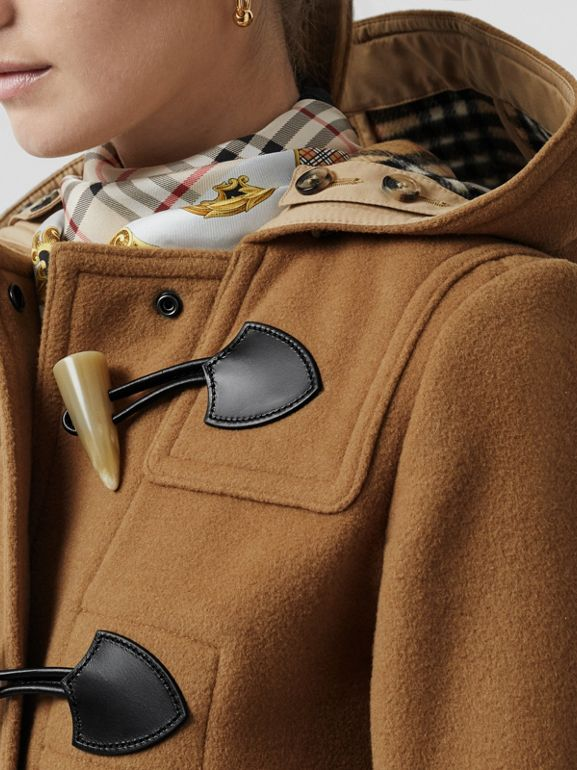 Wool Blend Duffle Coat in Camel - Women | Burberry United Kingdom - cell image 1
