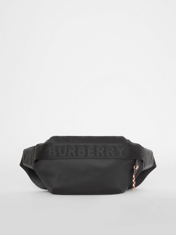 Medium Logo Detail Bum Bag in Black