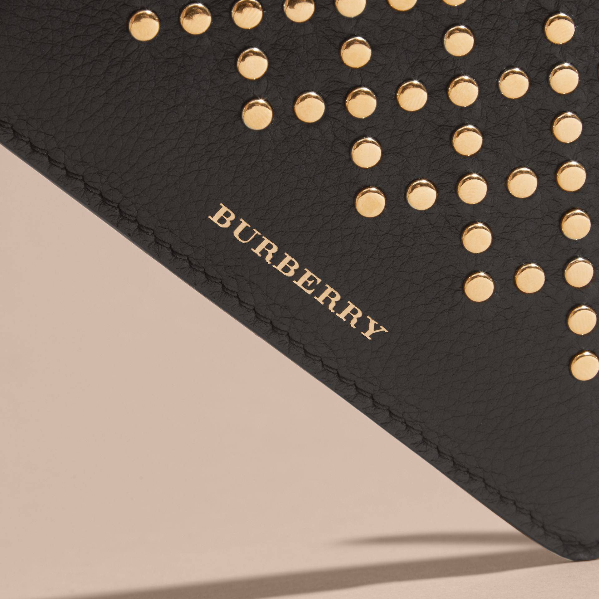 Riveted Grainy Leather Zip-top Wallet - gallery image 2