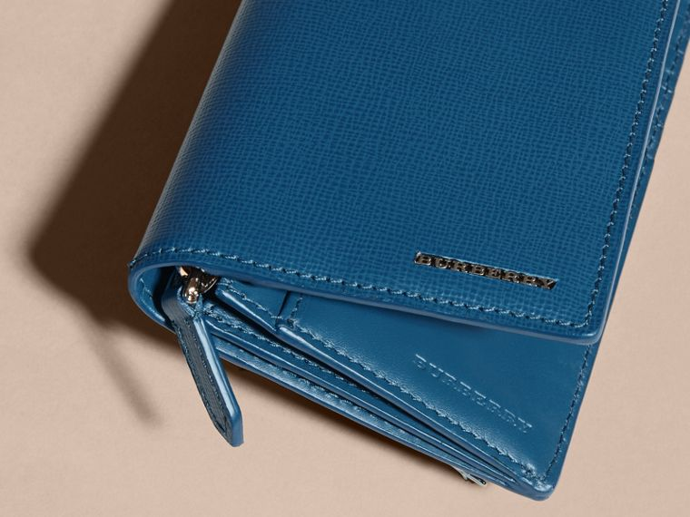 London Leather Continental Wallet in Mineral Blue - cell image 1