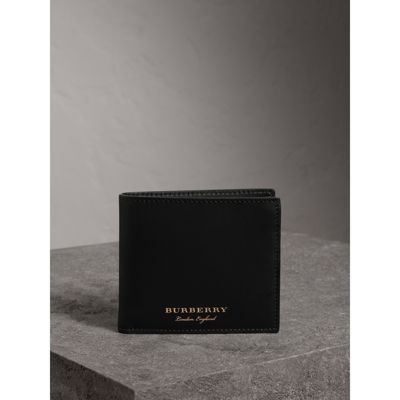 Burberry Men S Genuine Leather Wallet Credit Card Bifold