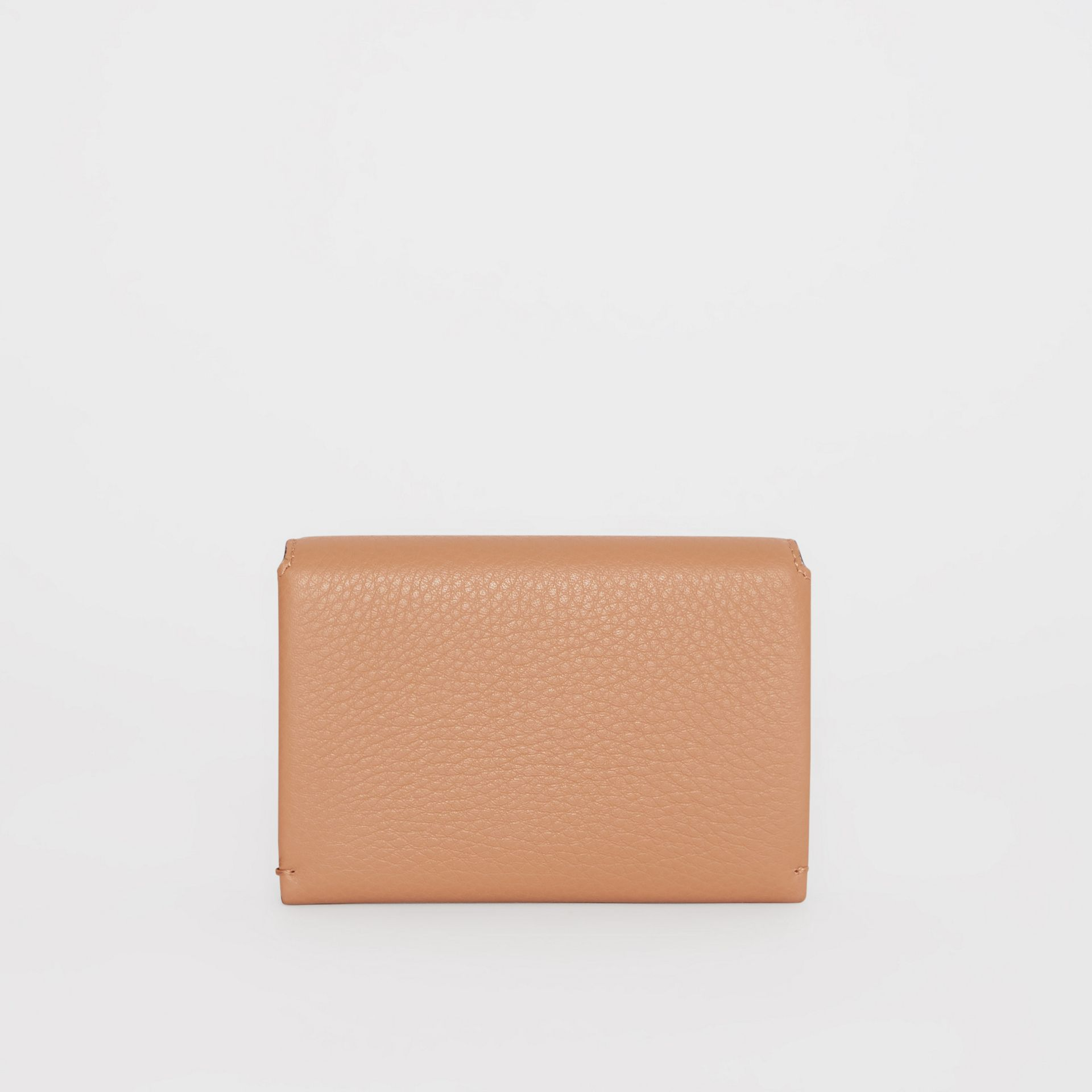 Triple Stud Leather Folding Wallet in Light Camel - Women | Burberry - gallery image 4
