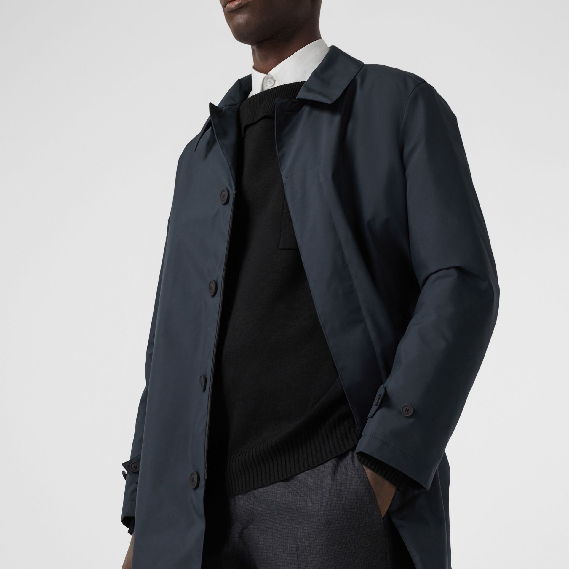 Down-filled Car Coat with Detachable Warmer in Navy - Men | Burberry - gallery image 1