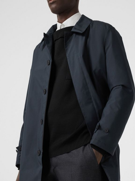 Down-filled Car Coat with Detachable Warmer in Navy - Men | Burberry - cell image 1