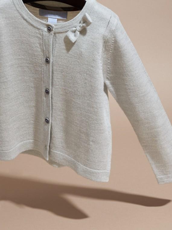 Light grey melange Lightweight Merino Wool Cardigan Grey Melange - cell image 2