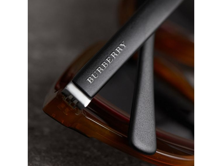 Square Frame Sunglasses in Light Brown - Men | Burberry United Kingdom - cell image 1
