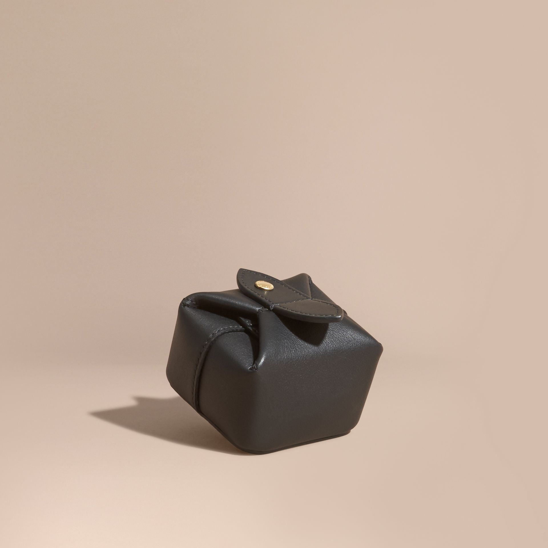 Black Leather Jewellery Box - gallery image 1