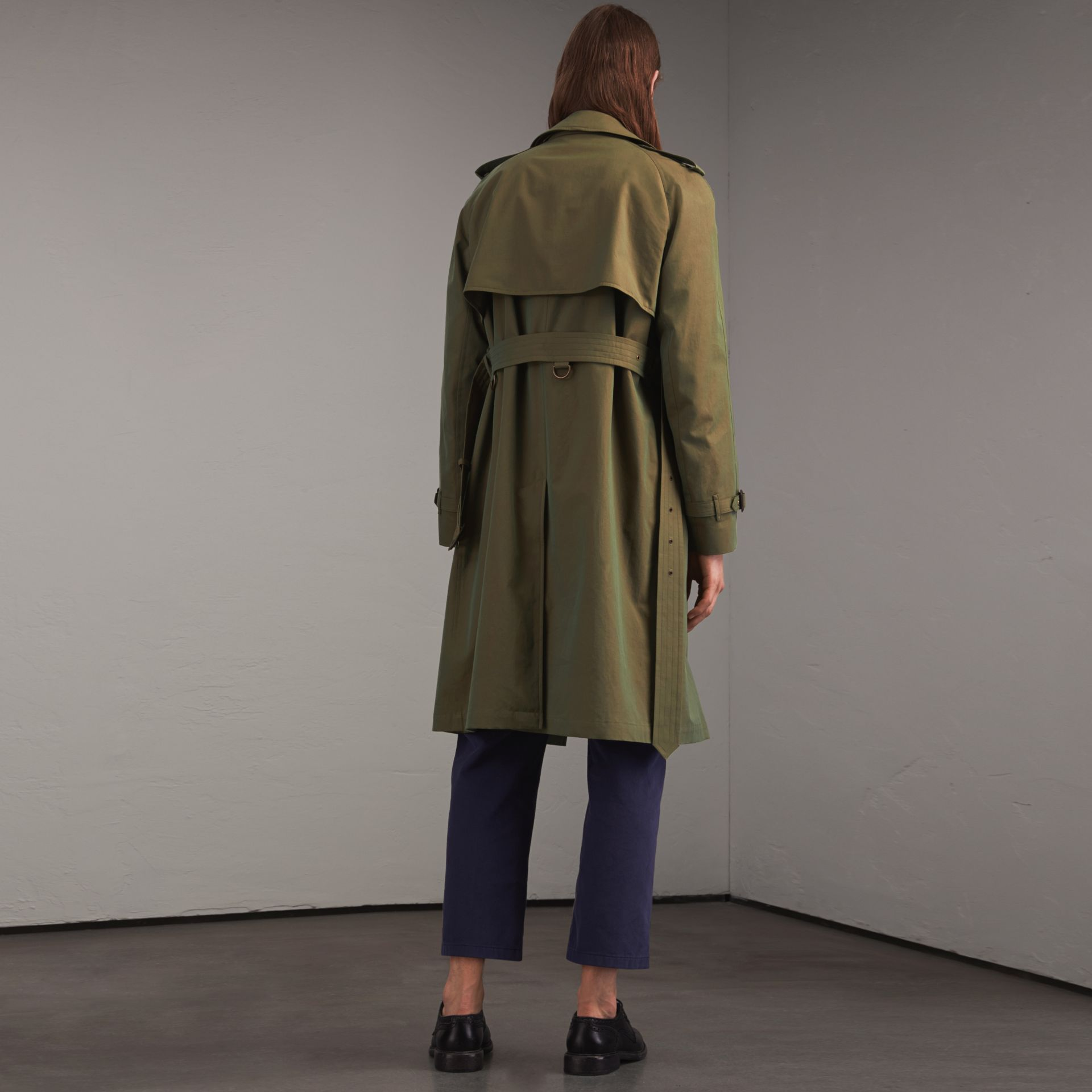 Oversize Storm Shield Tropical Gabardine Trench Coat - gallery image 3