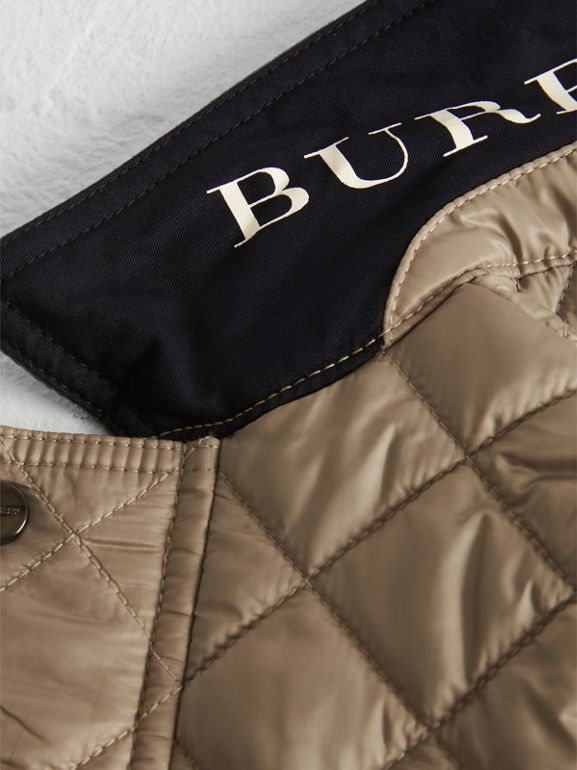 Lightweight Diamond Quilted Jacket in Mink - Children | Burberry - cell image 1