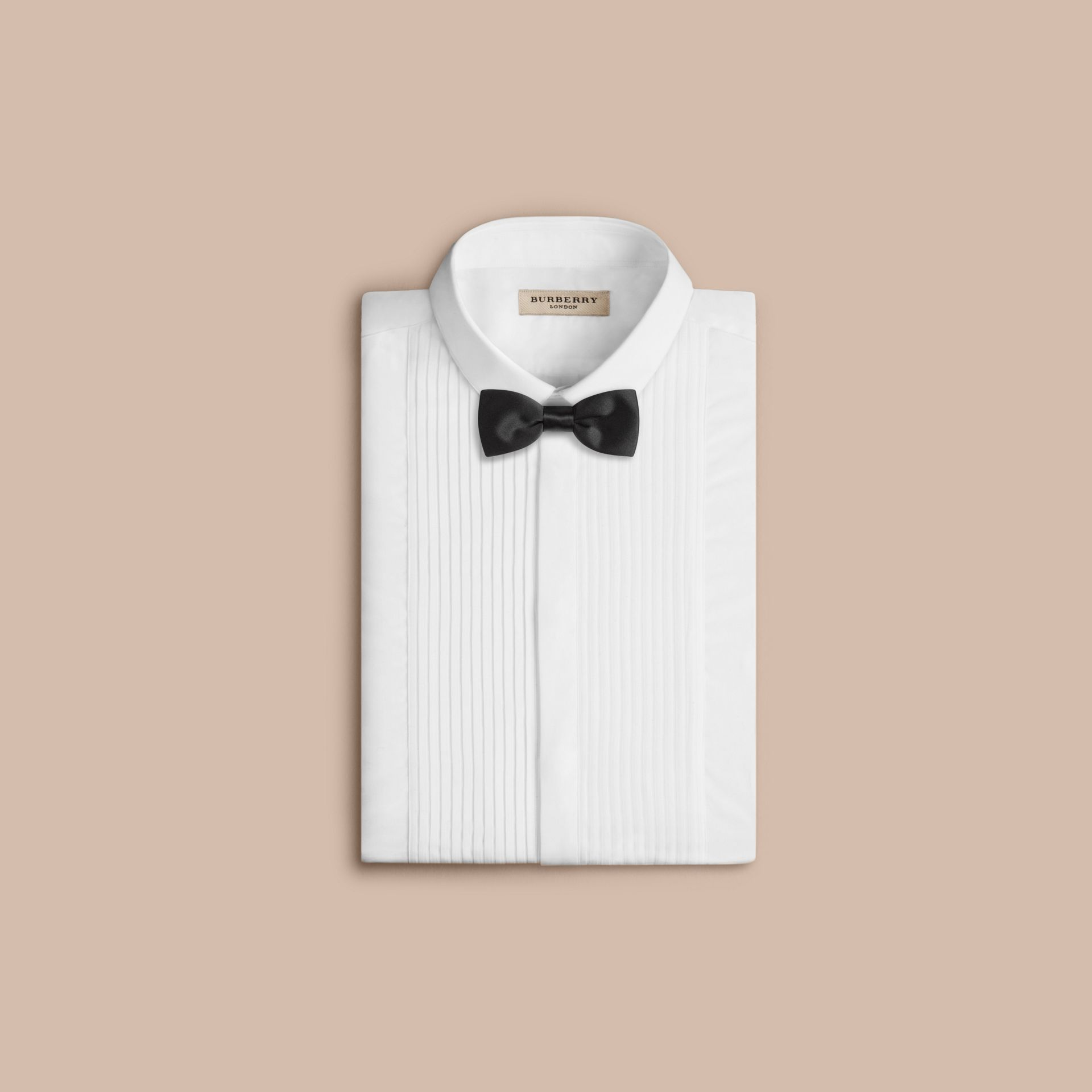 Classic Silk Bow Tie in Black - Men | Burberry - gallery image 4