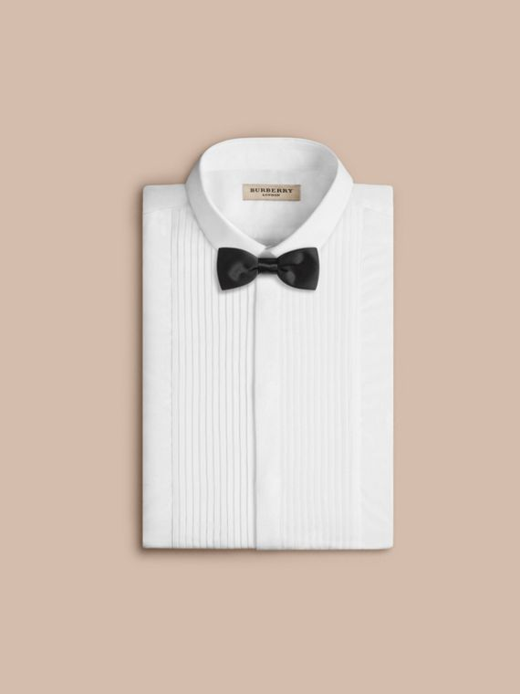 Classic Silk Bow Tie in Black - Men | Burberry - cell image 3