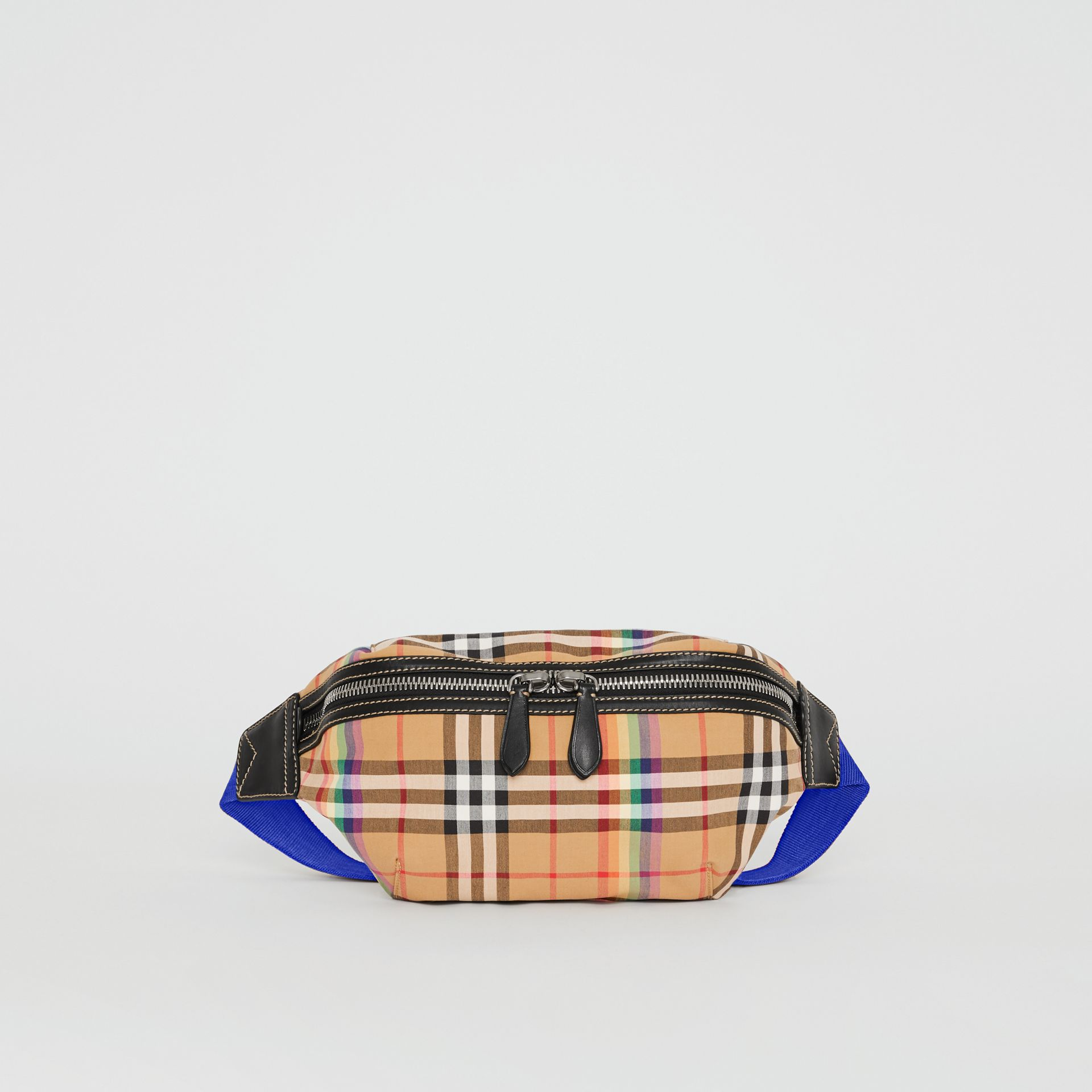Medium Rainbow Vintage Check Bum Bag in Antique Yellow | Burberry United Kingdom - gallery image 3