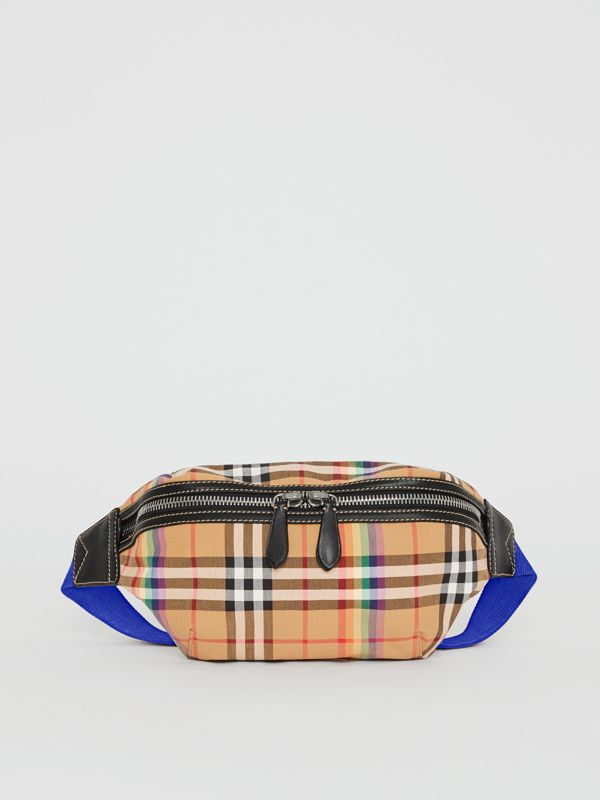 Medium Rainbow Vintage Check Bum Bag in Antique Yellow | Burberry United Kingdom - cell image 3