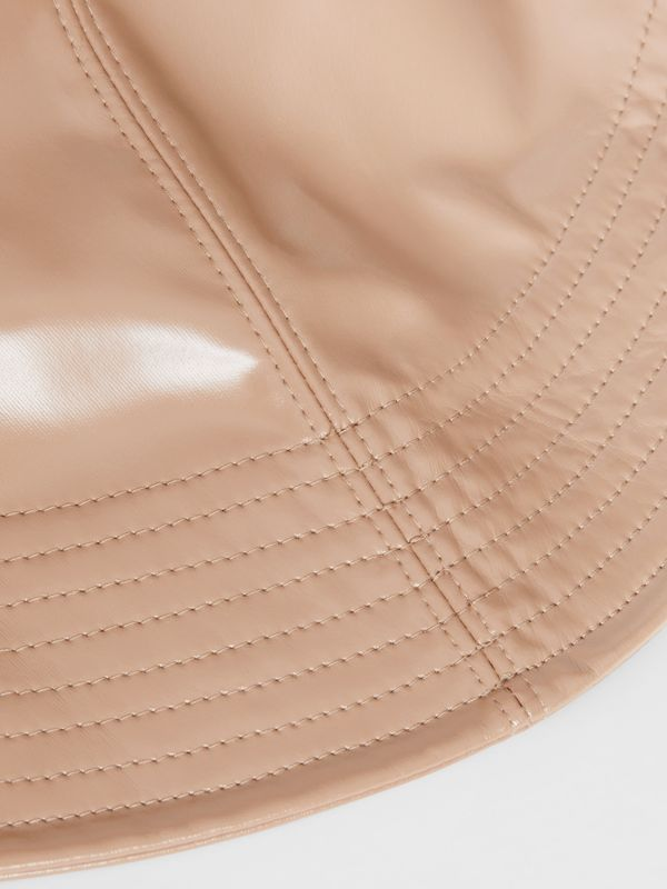 Rubberised Rain Hat in Toffee | Burberry - cell image 3