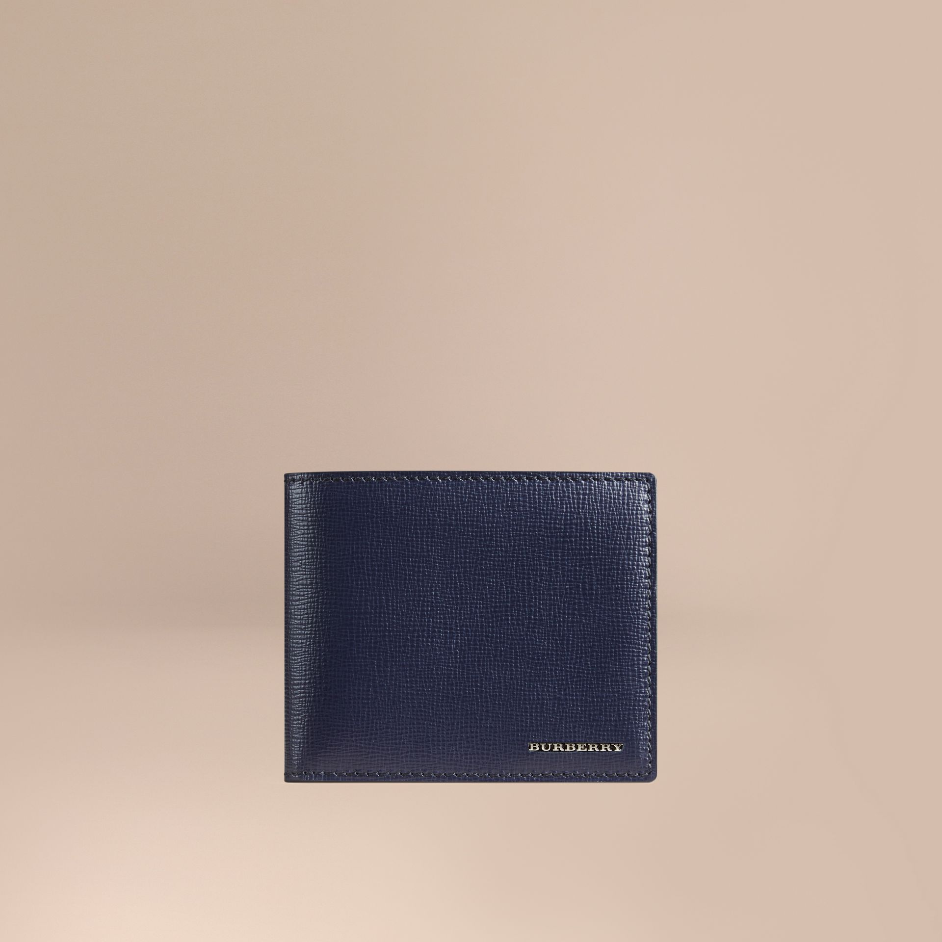 London Leather ID Wallet in Dark Navy - Men | Burberry - gallery image 1