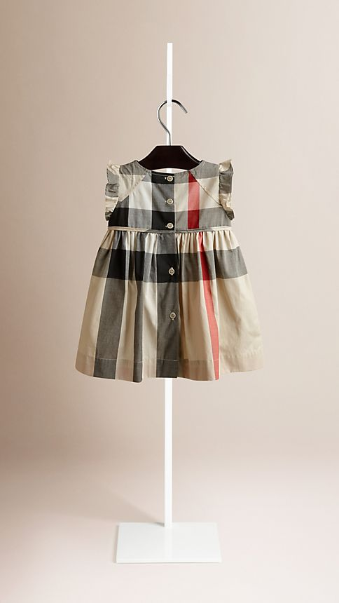 New classic check Flutter Sleeve Check Dress - Image 2
