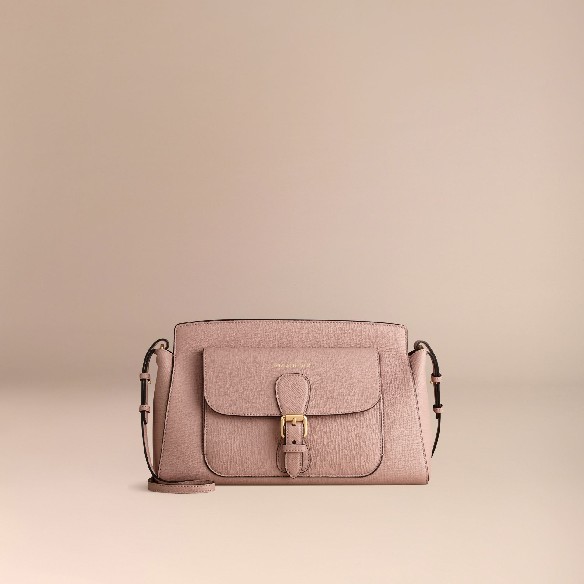 Pale orchid The Saddle Clutch in Grainy Bonded Leather - gallery image 7