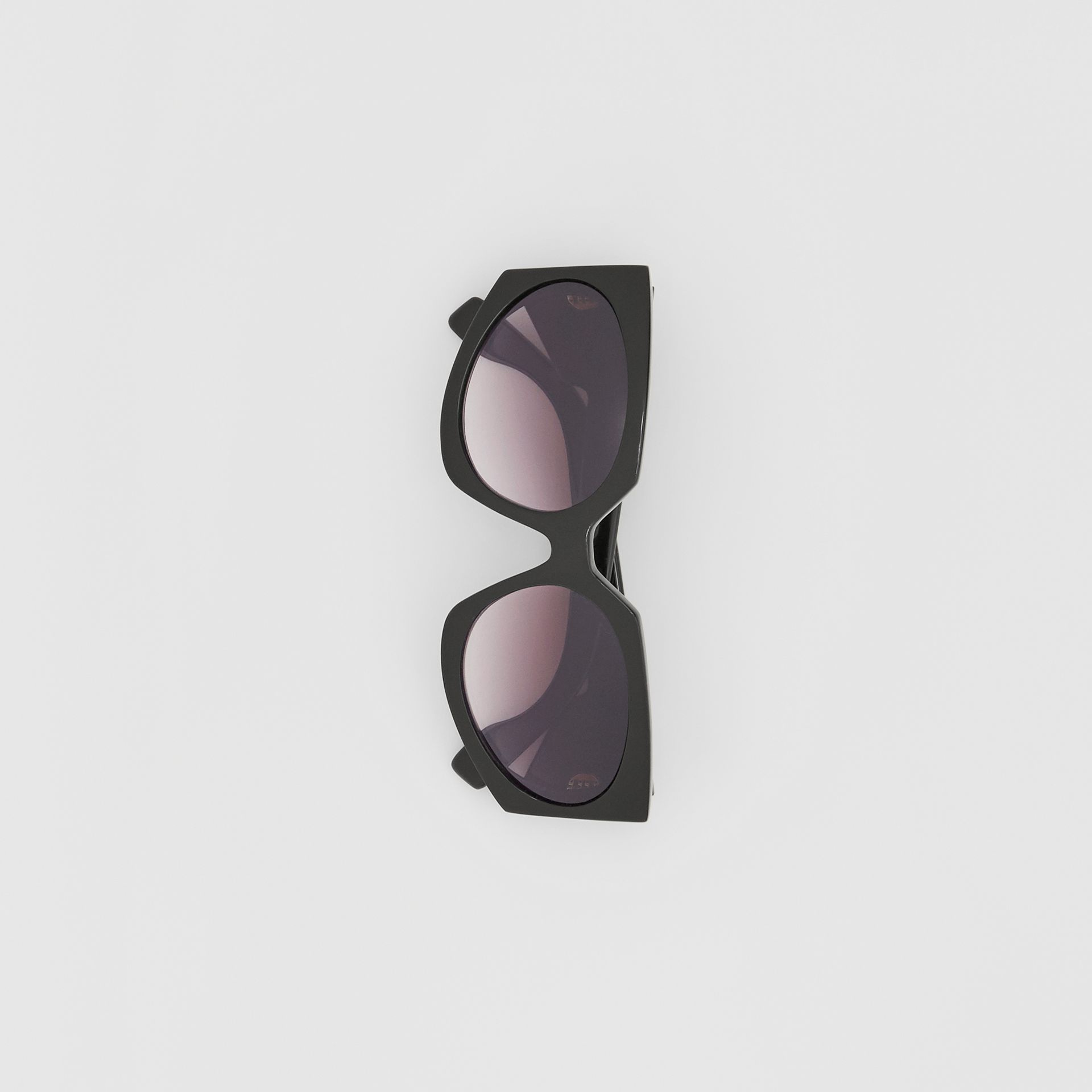 Geometric Frame Sunglasses in Black - Women | Burberry Canada - gallery image 3