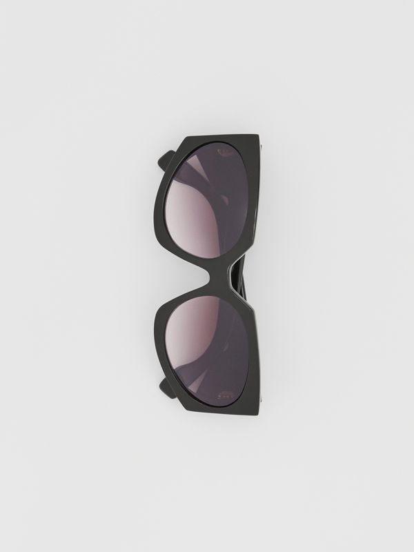Geometric Frame Sunglasses in Black - Women | Burberry - cell image 3