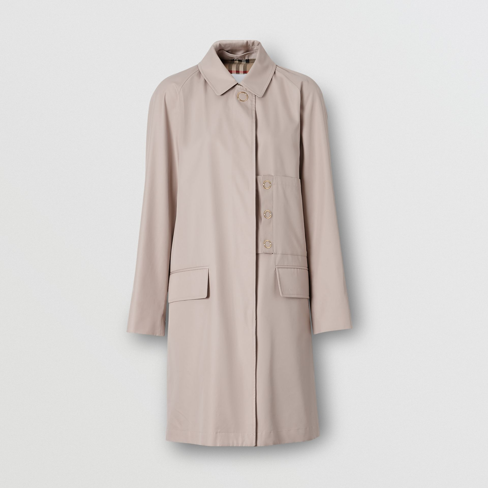 Cotton Gabardine Car Coat in Pale Blush - Women | Burberry United States - gallery image 3