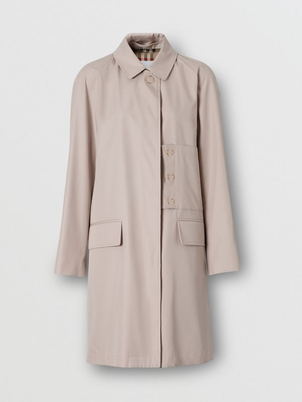 Cotton Gabardine Car Coat in Pale Blush - Women | Burberry United States - cell image 3