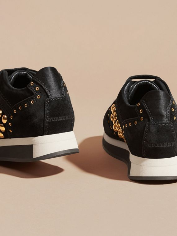 Black The Field Sneaker in Studded Suede Black - cell image 3