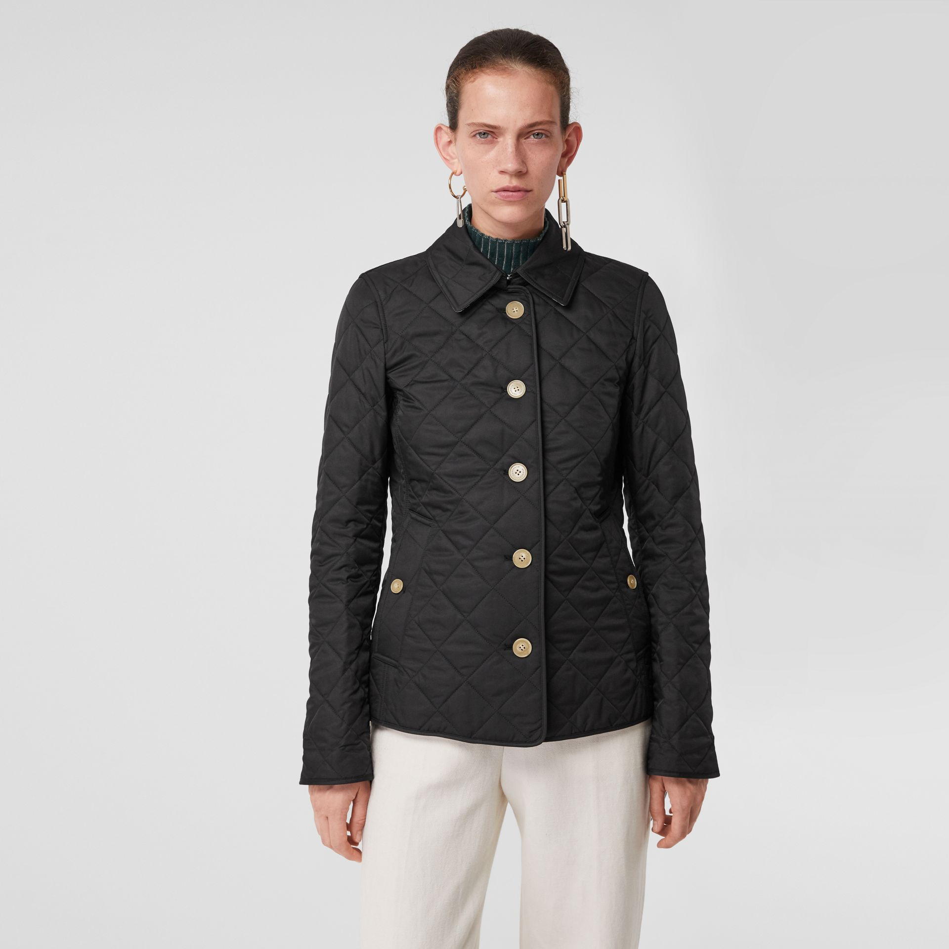 Diamond Quilted Jacket in Black - Women | Burberry Hong Kong S.A.R - gallery image 4