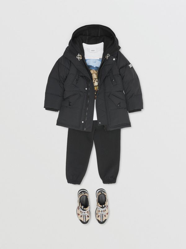 Пальто на пуху со съемным капюшоном (Черный) | Burberry - cell image 2
