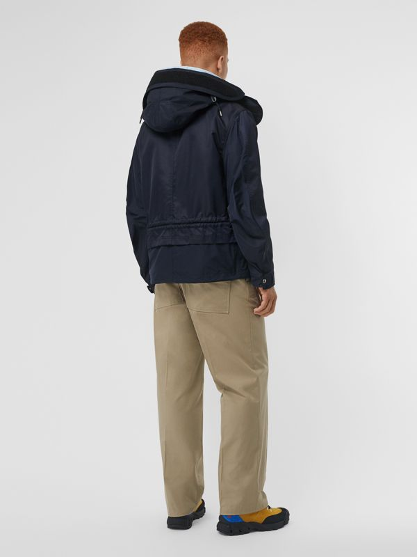 Detachable Hood Nylon Twill Jacket in Navy - Men | Burberry - cell image 2