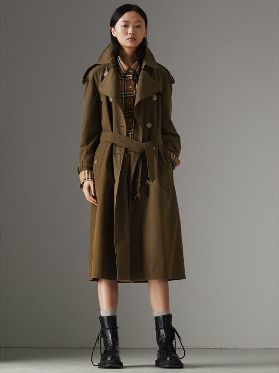 Trench coat Heritage The Westminster lungo (Cachi Militare Scuro)
