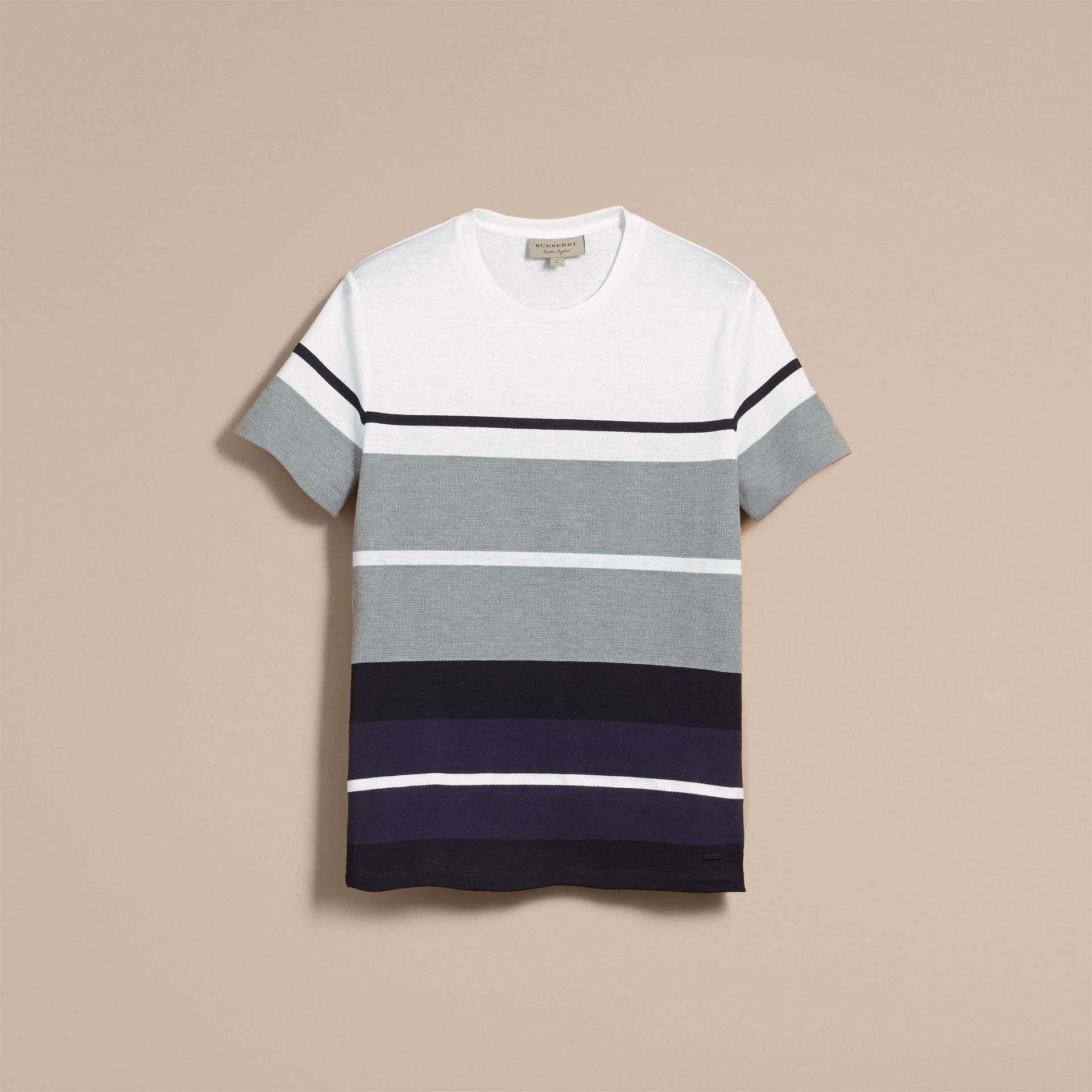 Striped Cotton T-shirt - gallery image 4