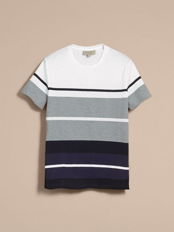 Striped Cotton T-shirt - cell image 3