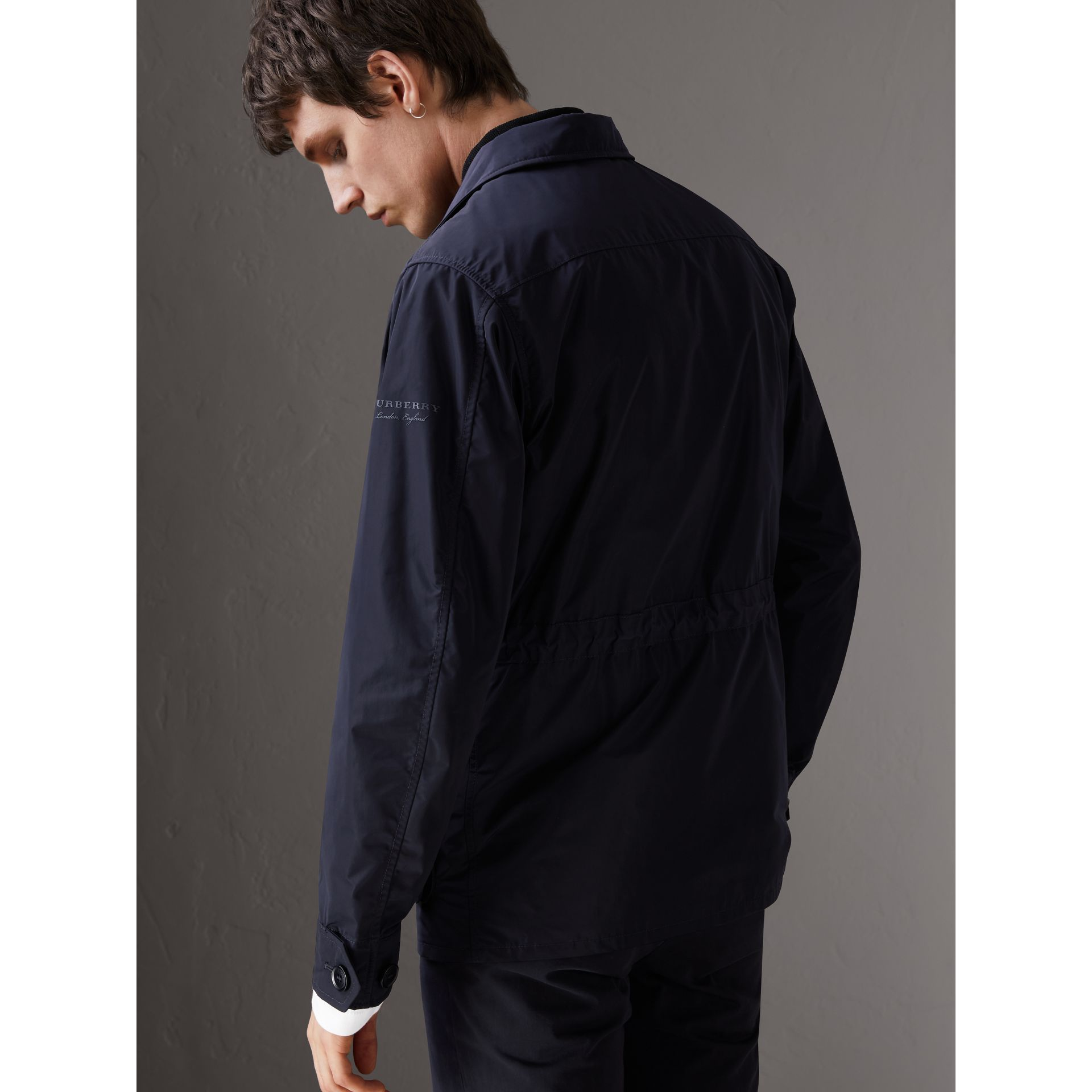 Shape-memory Taffeta Field Jacket with Warmer in Navy - Men | Burberry - gallery image 2