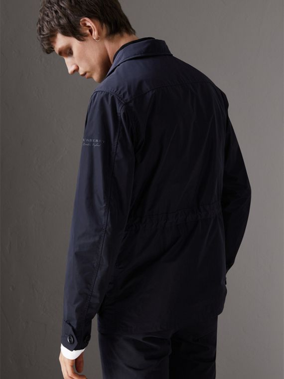Shape-memory Taffeta Field Jacket with Warmer in Navy - Men | Burberry Singapore - cell image 2